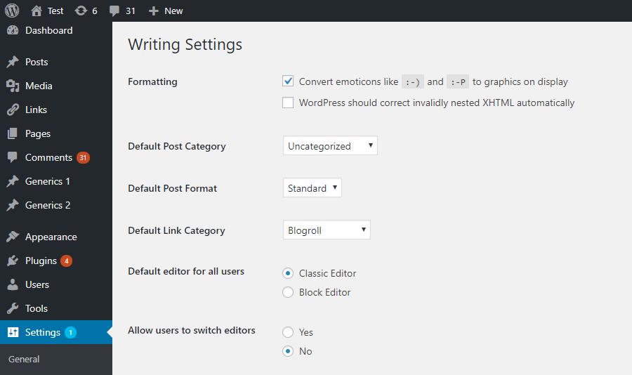 Klasyczny edytor WordPressa